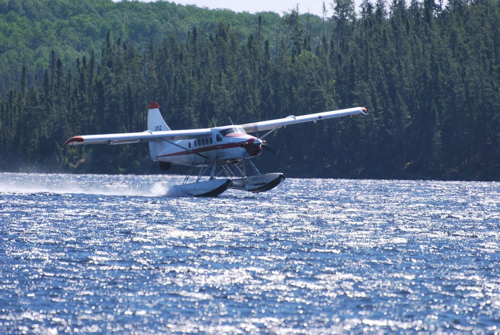 fly in fishing seaplane at Mattice Lake Outfitters
